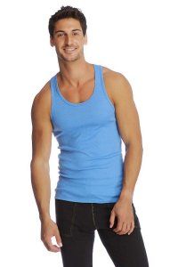 4-rth Edge Sustain Tank Top T Shirt Ice Blue