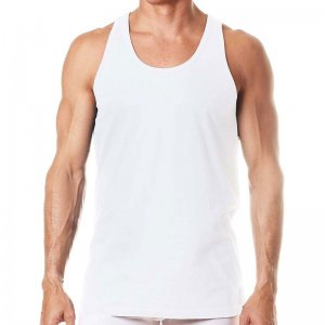 Levi's Contrast Stitching Tank Top T Shirt White ULV3LN06100
