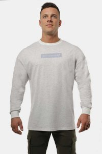 Jed North Energy Oversized Long Sleeved T Shirt Grey JNTOP05...