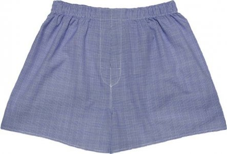 Charlie Dog The Austin Checks Loose Boxer Shorts Underwear Dark Blue 376-128
