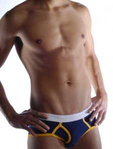 Go Softwear California Colors Piping Boy Brief Underwear Navy/Yellow 2021