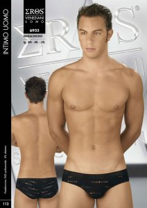 Eros Veneziani See Through Brief Underwear Black 6933