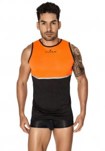 Clever Votix Tank Top T Shirt Black/Orange 7023