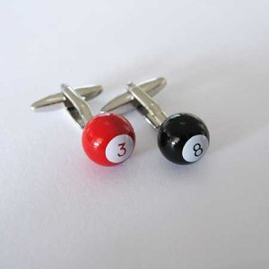 Distino Of Melbourne Novelty Billiards Cufflinks CBILLIARDS