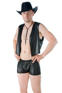 Andalea Leather Boxer Brief Underwear SW-106
