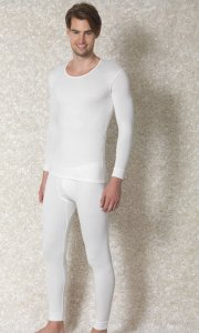 Doreanse Solid Long Sleeved T Shirt White 2970