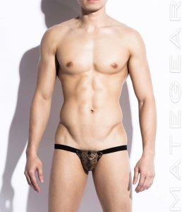 Mategear Won Yeong Very Sexy Leather Jock Strap Underwear Snake Print TH250303