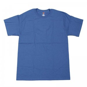 Hanes Nano Cotton Short Sleeved T Shirt Denim Blue 4980
