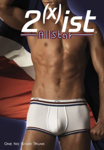[2 Pack/3 Pack] 2xist AllStar No Show Trunk Boxer Brief Underwear White