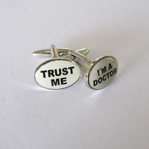Distino Of Melbourne Novelty Trust Me I'm a Doctor Cufflinks CDOCTOR