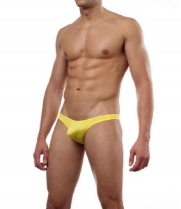 Cover Male Pouch Enhancing Thong Underwear & Swimwear Yellow 202