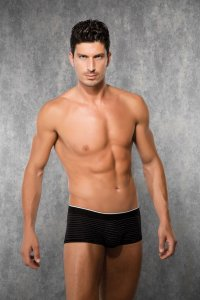 Doreanse Stripe Boxer Brief Underwear Black 1884