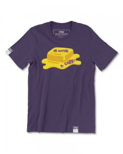The Well Branded Is Butter A Carb? 100% Cotton Classix Short Sleeved T Shirt Grape Compote