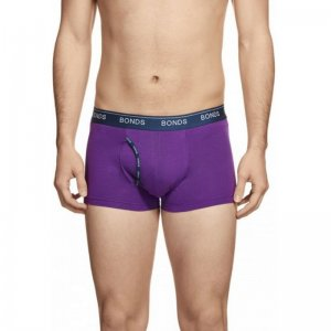 Bonds Hipster Guy Front Trunk Underwear Purple 3ZVJ
