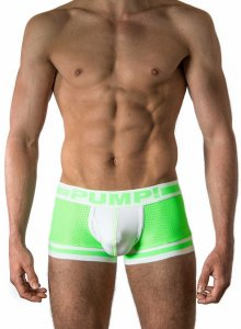 Pump! Microshock Boxer Brief Underwear Green/White 11037