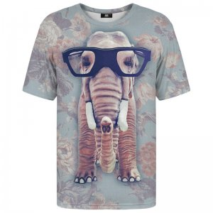 Mr. Gugu & Miss Go Hip Elephant Net Unisex Short Sleeved T Shirt TSH286