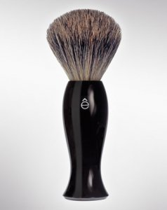 eShave Badger Hair Shaving Brush Fine Black 780009
