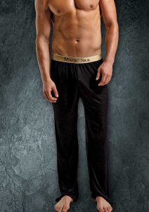Magic Silk Silk Knit Lounge Pants Black 1886