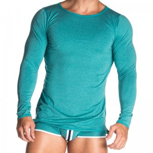 Gigo NAVY GREEN Long Sleeved T Shirt G26130