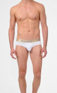 2(x)ist Gold Contour Pouch Brief Underwear White 36203