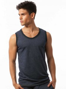 N2N Bodywear Basic Gym Muscle Top T Shirt Navy BG12