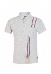 Spy Henry Lau Chic Special Stripe Polo Short Sleeved Shirt G...