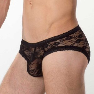 Bum-Chums Lace Brief Underwear Black
