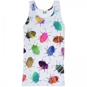 Mr. Gugu & Miss Go Colorful Cockroaches Tank Top T Shirt TT727