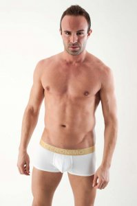 Geronimo Contour Boxer Brief Underwear White 1356B1