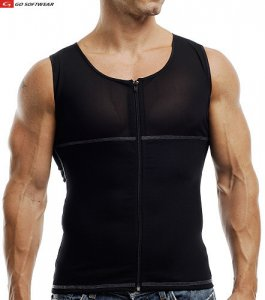 Go Softwear M Torso Shaper Muscle Top T Shirt Black 2735