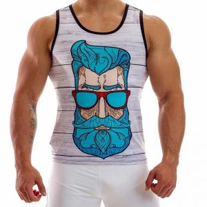 Alongwear Blue Beard Tank Top T Shirt