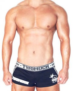 Two Much No 5 Loose Boxer Shorts Underwear Black TK003