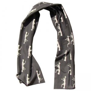 Breese M60s Scarf Black/White M60BLKWHTSCARF