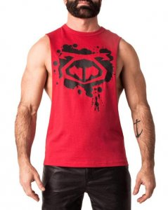 Nasty Pig Load Shredder Muscle Top T Shirt Red 1314