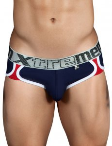 Xtremen Spliced Athletic Brief Underwear Dark Blue 91014