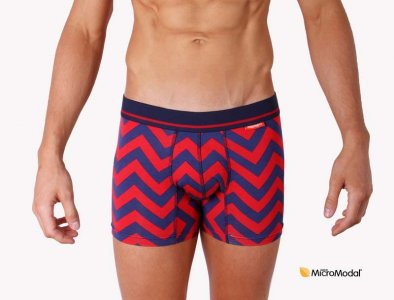 Mosmann Tee Pee Boxer Brief Underwear Red/Navy LU2740