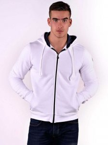 Roberto Lucca Solid Hoodie Long Sleeved Sweater White 80259-...