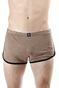 L'Homme Invisible Linen Freedom Shorts Taupe HW129-LIN-020