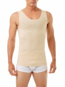 Underworks Shapewear Ultimate Double Panel Body Shaper Compression Tank Top T Shirt Nude 997103