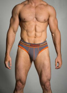 Baskit Ribbed Brief Underwear Pewter