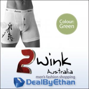 2wink Australia Graffiti Longbox Long Boxer Brief Underwear Green