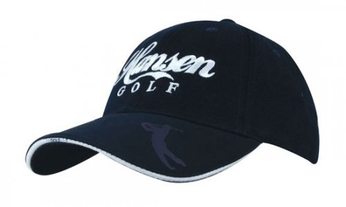 Headwear Professional 6 Panel BHC Golf Cab With Embossed Pea...