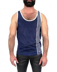 Nasty Pig Track'd Tank Top T Shirt Blue 1368