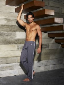Sauvage Zipper Workout Pants Charcoal M019