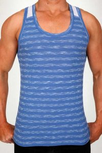 Pistol Pete Stealth Tank Top T Shirt Cobalt TK160-117