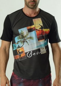 Geronimo Short Sleeved T Shirt Black 1604T3-1