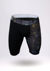 Geronimo Long Boxer Brief Underwear Black 1856B9-1