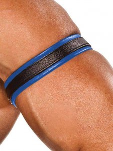 Colt Leather Bicep Strap Blue