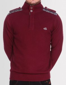 Kear&Ku Knitted Long Sleeved Sweater Burgundy