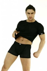 Lookme Sheer Boxer Brief Underwear Black 77-67